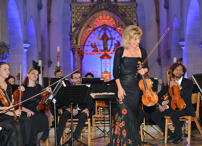 Anne-Sophie Mutter beim Konzert